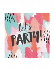 24 Petites serviettes en papier Let's Party ! 25 x 25 cm