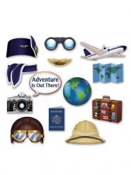 Kit photobooth Tour du Monde 13 accessoires
