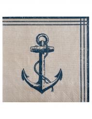 20 serviettes en papier Bord de Mer 33 x 33 cm
