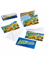 8 Cartons d'invitations Tortues Ninja™