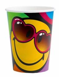 8 Gobelets en carton Smiley World™ 260 ml