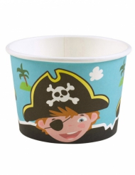 8 Pots à glace Pirates 270 ml