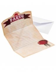 8 Cartons d'invitations Chevalier 14 x 8 cm