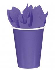 8 Gobelets en carton violets 266 ml