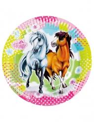 8 Assiettes en carton Charming Horses 23 cm