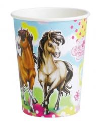 8 Gobelets en carton Charming Horses 250 ml