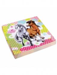 20 Serviettes en papier Charming Horses 33 x 33 cm