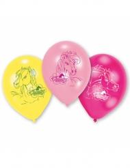 6 Ballons en latex Charming Horses 23 cm