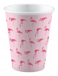 8 Gobelets en carton Flamingo Paradise 250 ml