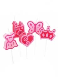 8 Bougies thème Princesse
