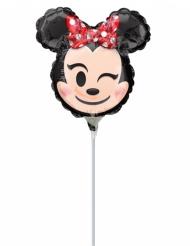 Petit ballon aluminium tête de Minnie Emoji™ 22 x 22 cm