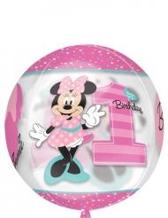 Ballon rond aluminium Minnie™ 38 x 40 cm