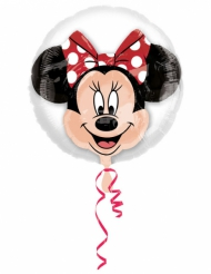 Ballon aluminium double bubble tête de Minnie™ 60 x 60 cm
