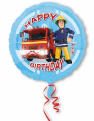 Ballon aluminium Happy Birthday Sam le Pompier™ 43 cm