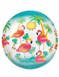Ballon aluminium tropical flamands roses 40 cm