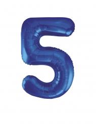 Ballon aluminium chiffre 5 bleu 86 cm
