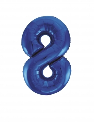 Ballon aluminium chiffre 8 bleu 83 cm