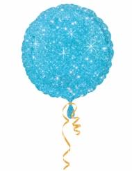 Ballon aluminium bleu scintillant 43 cm