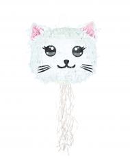 Piñata Chat Kawai blanc 38 cm