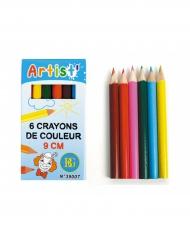 Accessoires piñata 6 Crayons de couleur 9 cm