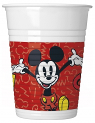 8 Gobelets en plastique Mickey™ rétro 200 ml