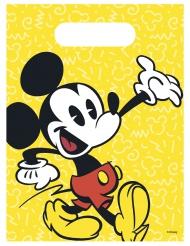 6 Sacs à cadeaux Mickey™ rétro 16.5 x 23 cm
