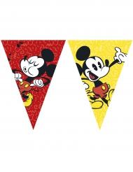 Guirlande 9 fanions Mickey™ rétro 26 cm x 2.3 cm