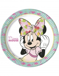 8 Assiettes  en carton 23 cm Minnie™ Tropical