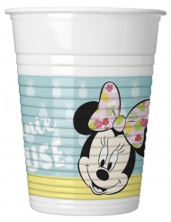 8 Gobelets en plastique Minnie™ Tropical 200 ml