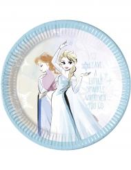 8 Assiettes en carton La Reine des Neiges™ 23 cm