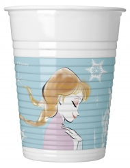 8 Gobelets en plastique La Reine des Neiges™ 200 ml