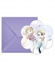 6 Cartes d'invitation et enveloppes La Reine des Neiges™