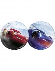 8 Assiettes  en carton 23cm Cars 3™  Flash McQueen™ & Jackson Storm™