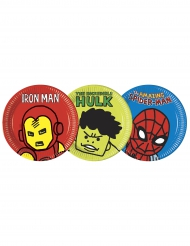 8 Assiettes  en carton 23cm Avengers™