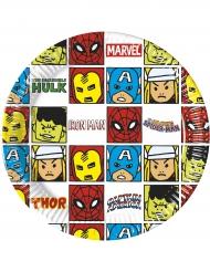8 Assiettes en carton Avengers™ 20 cm