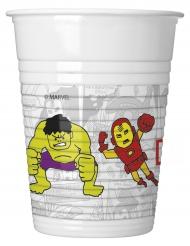8 Gobelets en plastique Avengers™ 200 ml