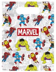 6 Sacs à cadeaux Avengers™ 16 x 23 cm