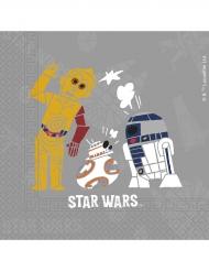 20 Serviettes en papier Star Wars Forces™ 33 x 33 cm