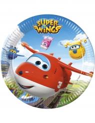 8 Assiettes  en carton 23 cm Super Wings™