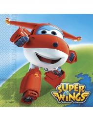 20 Serviettes en papier Super Wings™ 33 x 33 cm