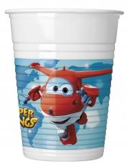 8 Gobelets en plastique Super Wings™ 200 ml