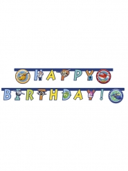 Guirlande happy birthday Super Wings™ 1,8 m