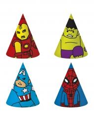 6 chapeaux de fête en carton Avengers™
