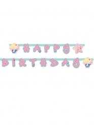 Guirlande Happy Birthday Sirène en papier 1,80 m x 15 cm