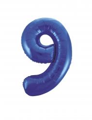 Ballon aluminium chiffre 9 bleu 86 cm