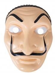 Masque braqueur en plastique adulte