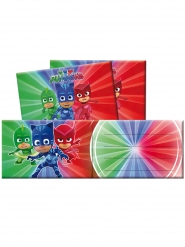 6 Cartons d'invitation avec enveloppes Pyjamasques™