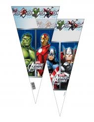 6 Sachets de fête Avengers™ 20 x 40 cm
