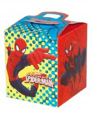 Boîte à cadeaux en carton Spiderman™ 9,5 x 9,5 x 11 cm