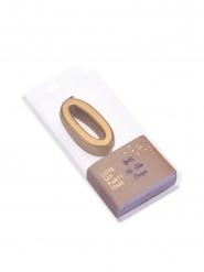 Bougie d'anniversaire chiffre 0 doré métallisé 4,3 cm